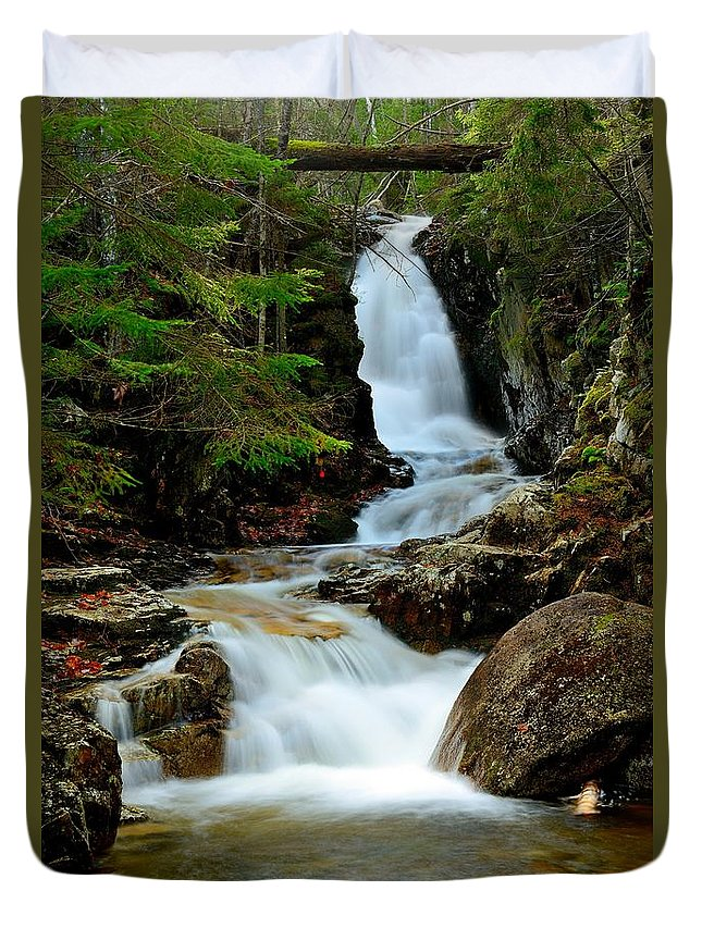Waterfall Duvet Cover featuring the photograph Pearl Cascade by Jason Stockwell