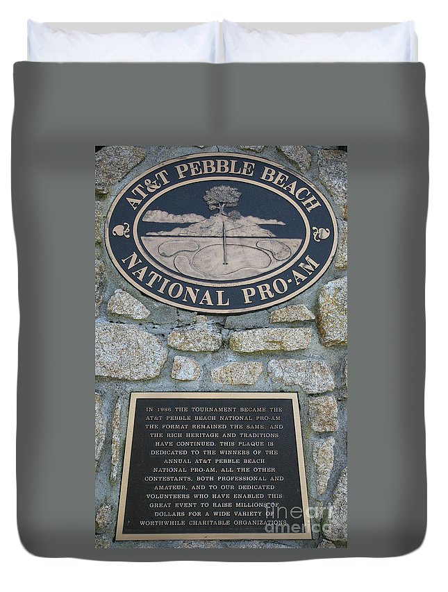 Monterey Duvet Cover featuring the photograph Pebble Beach National Pro-am I by Chuck Kuhn
