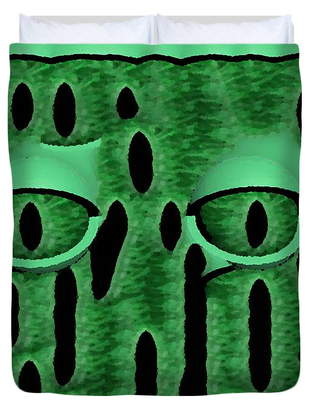 Nature Duvet Cover featuring the digital art Peek-a-boo V3 by Jimi Bush
