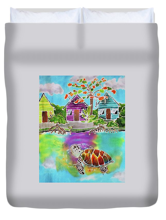 Bahamas Art Duvet Cover featuring the painting Peepin Tom by Tiff