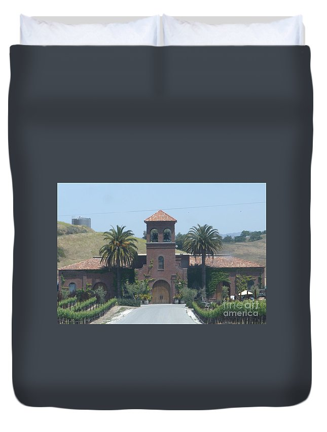 Winery Duvet Cover featuring the photograph Peitre Santa Winery by Jeanie Watson