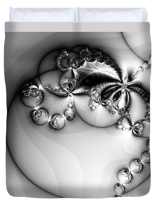 Digital Art Duvet Cover featuring the digital art Pendant In Silver by Amanda Moore