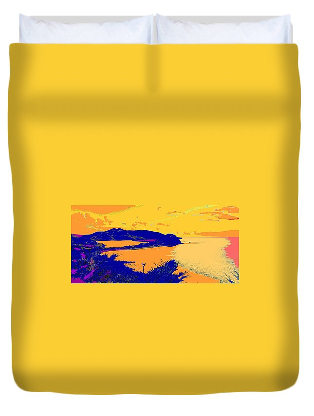 St Kitts Duvet Cover featuring the photograph Peninsula Orange by Ian MacDonald