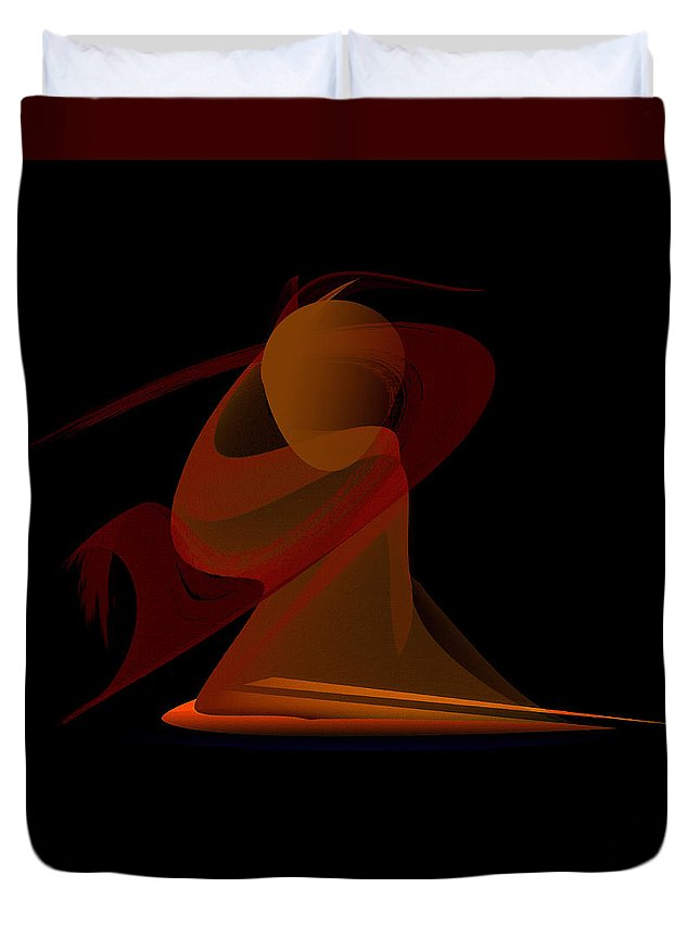 Original Duvet Cover featuring the painting Penman Original-292-the Unknown Warrior. by Andrew Penman