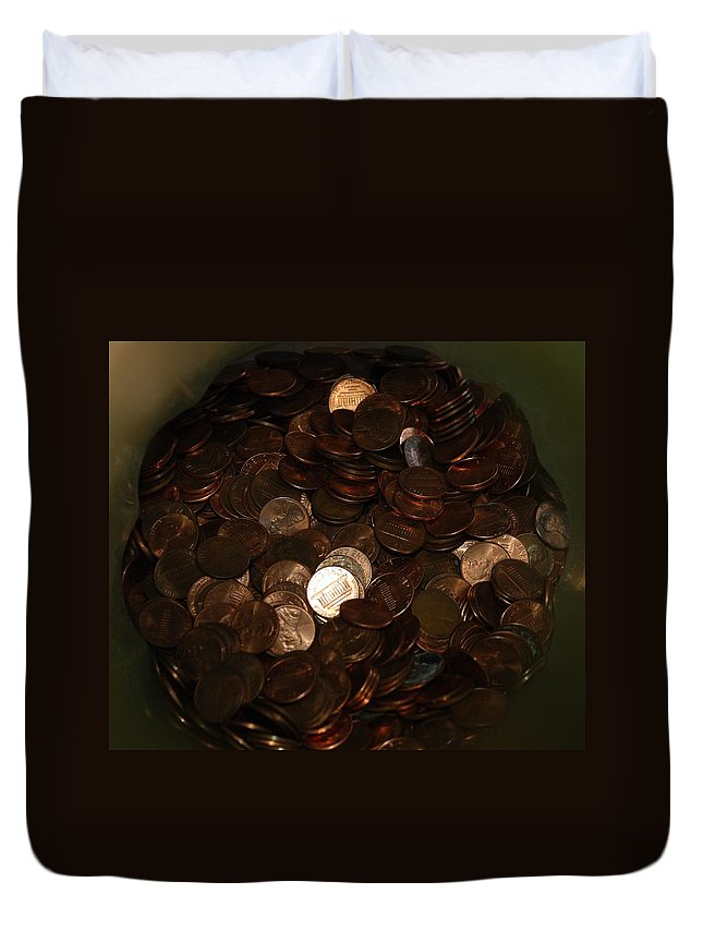 Pennies Duvet Cover featuring the photograph Pennies by Rob Hans