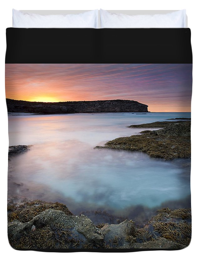 Dawn Duvet Cover featuring the photograph Pennington Dawn by Mike Dawson