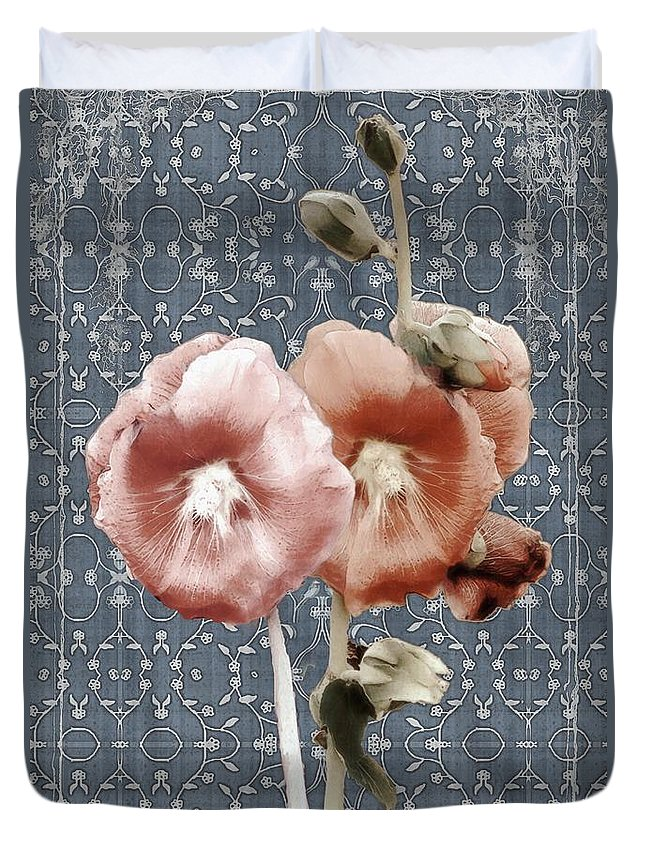 Cloth Duvet Cover featuring the painting Penny Postcard Bombay by RC DeWinter
