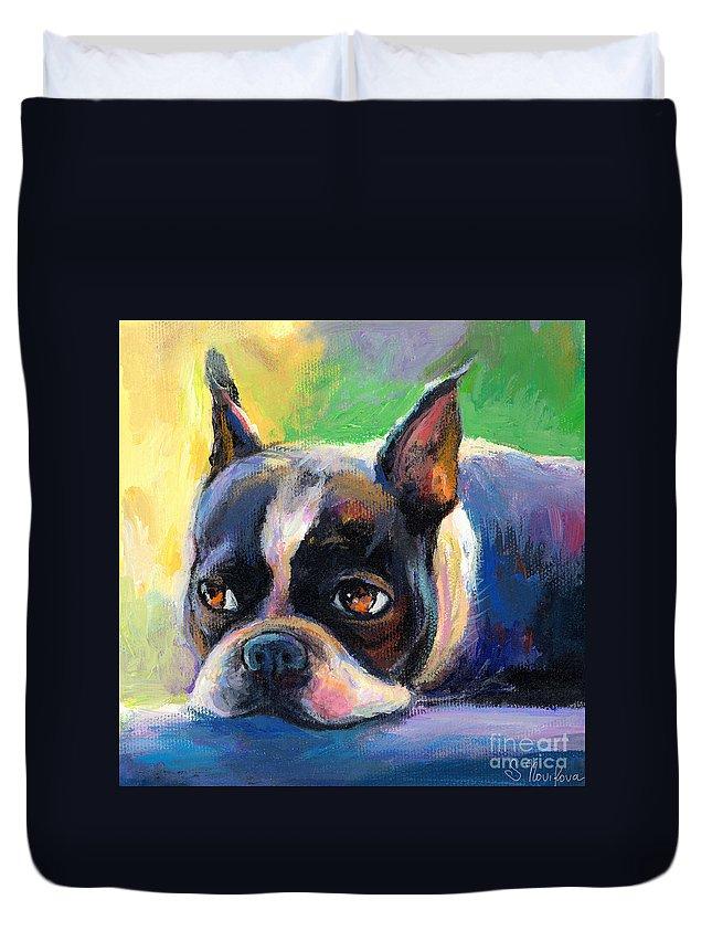 Boston Terrier Duvet Covers