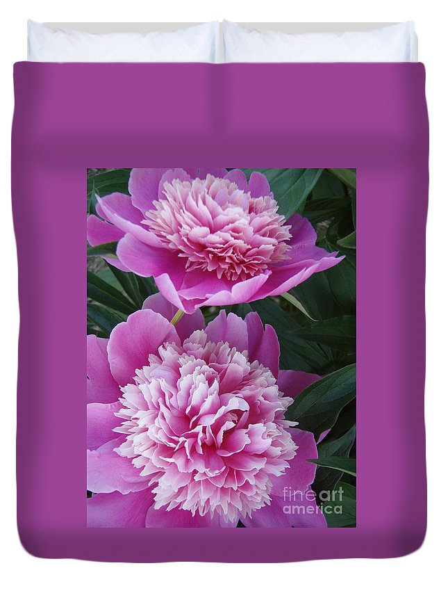 Peony Duvet Cover featuring the photograph Peony by Kristine Nora