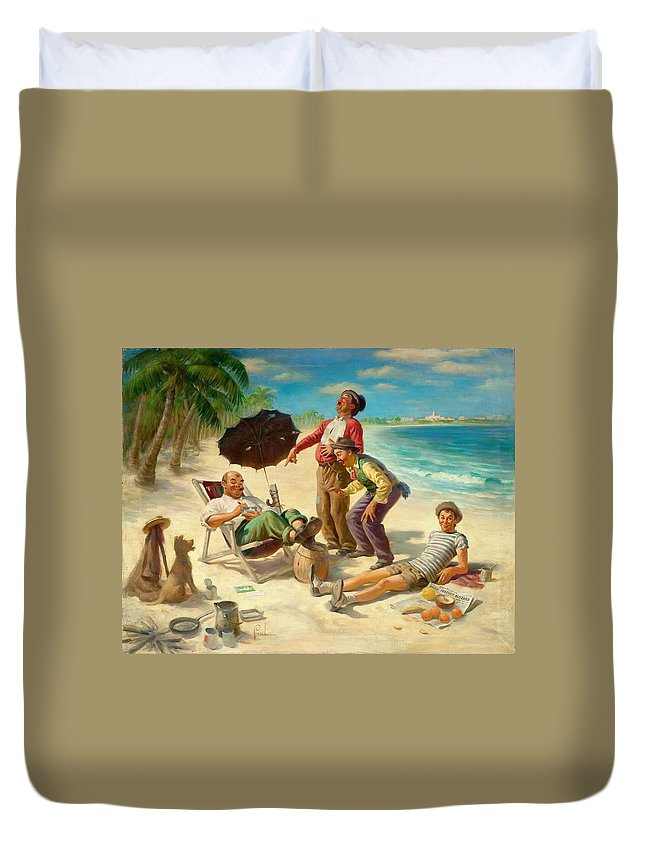 People Duvet Cover featuring the digital art People by Dorothy Binder