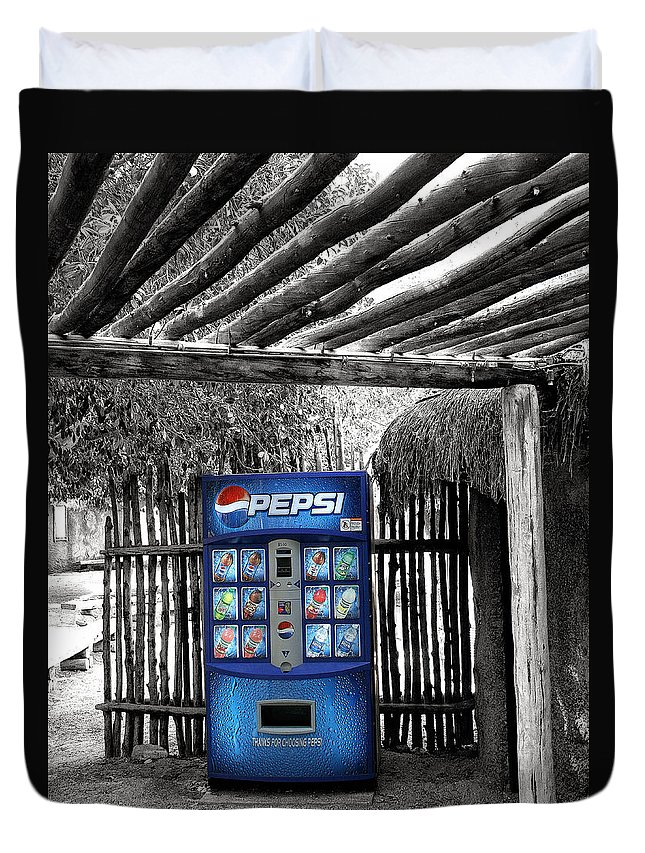 Living Desert Duvet Cover featuring the photograph Pepsi Generation Palm Springs by William Dey