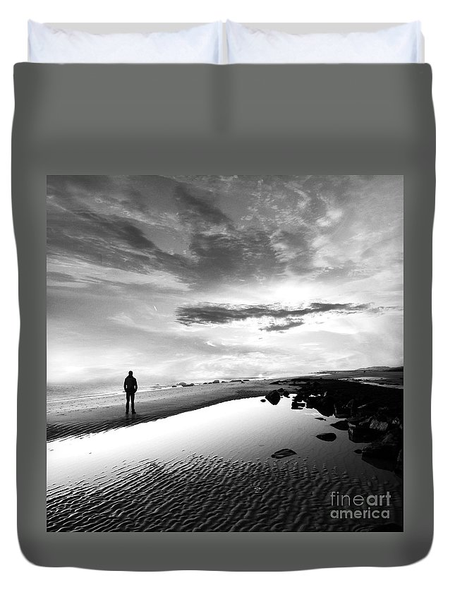 B&w Duvet Cover featuring the photograph Per Sempre by Jacky Gerritsen