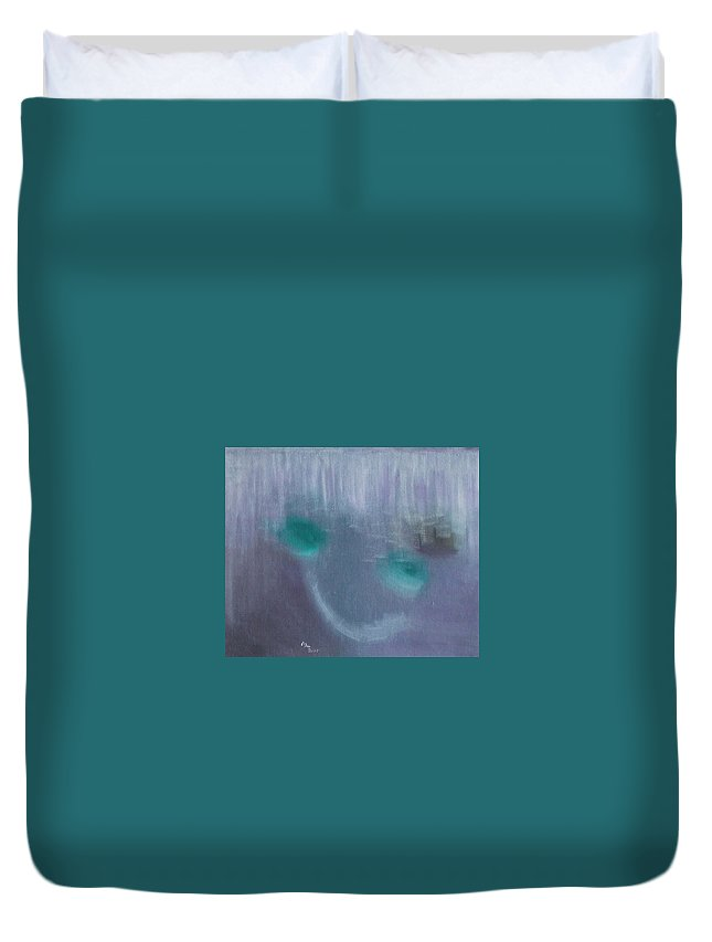 Duvet Cover featuring the painting Perception Of Life by Min Zou