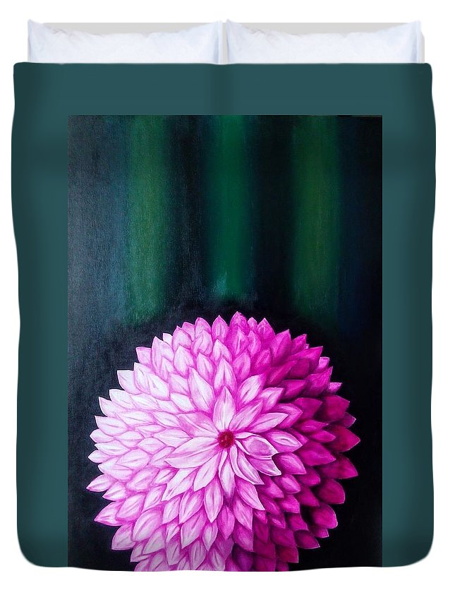 Flower Duvet Cover featuring the painting Perennial by Neena