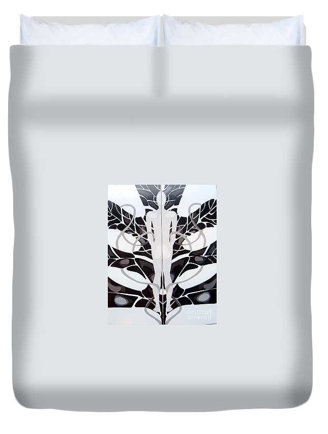 Man Duvet Cover featuring the mixed media Perfect Balance by Linda Shackelford