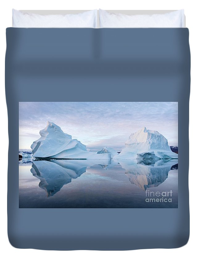Greenland Duvet Cover featuring the photograph Perfect Serenity by Rudy De Maeyer