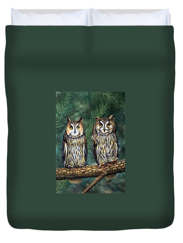 Wildlife Duvet Cover featuring the painting Perfect Strangers by Frank Wilson
