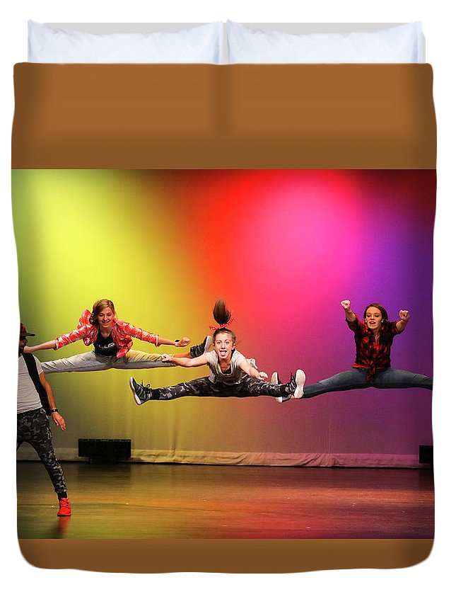 Dance Duvet Cover featuring the photograph Perfect Timing by Leigh Lofgren