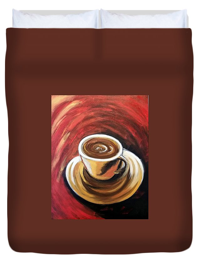 Cafcoffee Duvet Cover featuring the painting Perfecto by Rosie Sherman