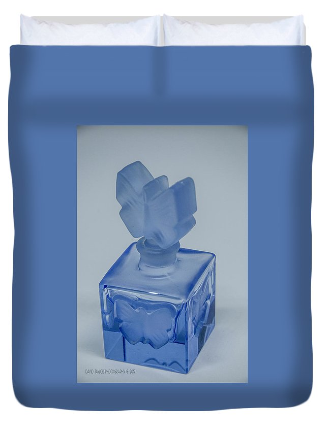 Perfume Bottle Duvet Cover featuring the photograph Perfume Bottle Collection_4 by David Taylor