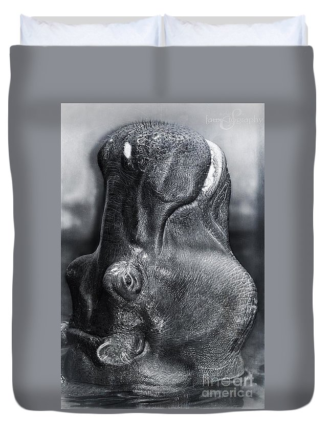 Hippo Duvet Cover featuring the photograph Periscope by Reese Kiewel