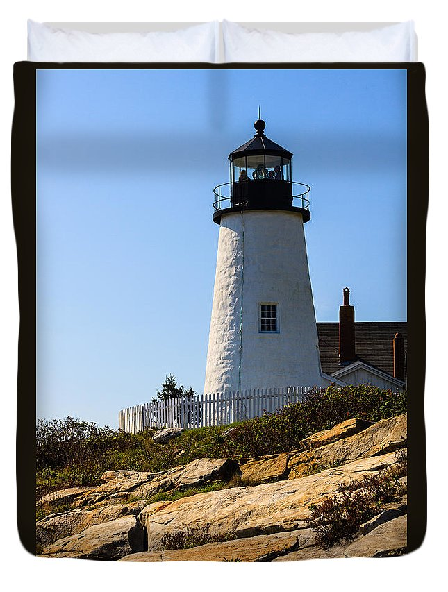 Pemaquid Lighthouse Duvet Cover featuring the photograph Permaquid Lighthouse by Terri Morris