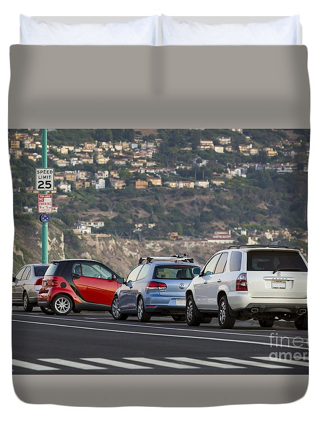 California Duvet Cover featuring the photograph Perpendicular Parking by John MacLean