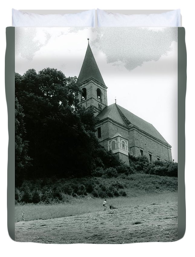Church Duvet Cover featuring the photograph Perseverance by Michelle Calkins