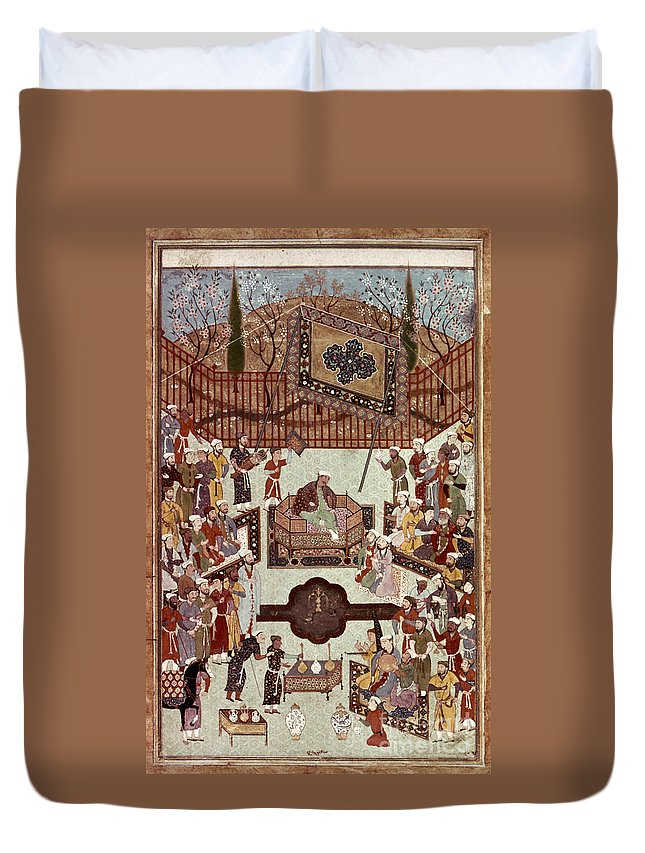 1567 Duvet Cover featuring the photograph Persian Miniature, 1567 by Granger