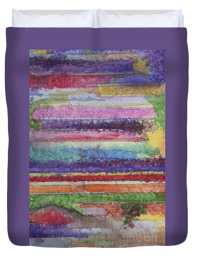 Colorful Duvet Cover featuring the painting Perspective by Jacqueline Athmann