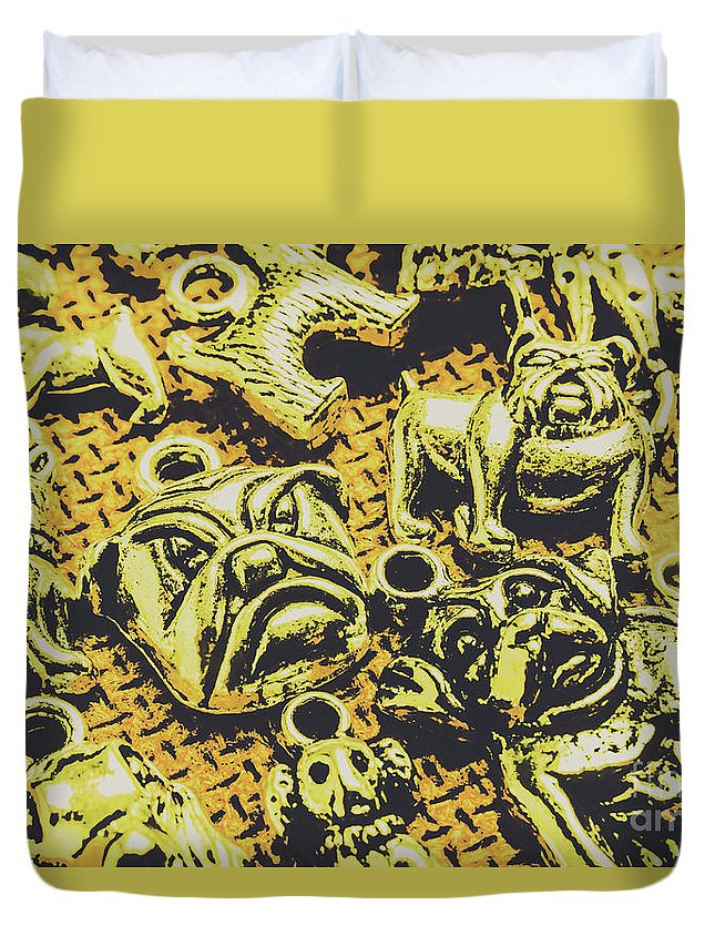 Pets Duvet Cover featuring the photograph Pet Pendant Dogs by Jorgo Photography - Wall Art Gallery