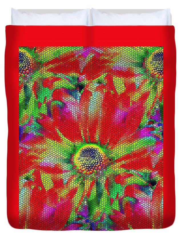 Abstract Duvet Cover featuring the photograph Petal Power by Tim Allen
