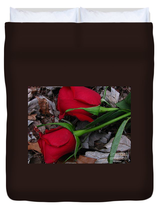 Patzer Duvet Cover featuring the photograph Petals And Leafs by Greg Patzer
