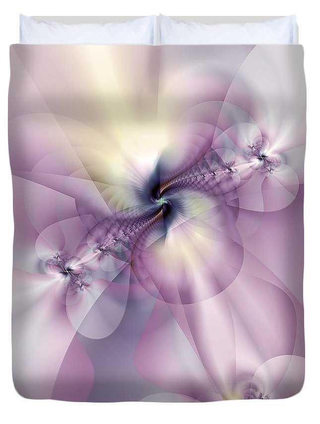 Abstract Duvet Cover featuring the digital art Petals Of Pulchritude by Casey Kotas