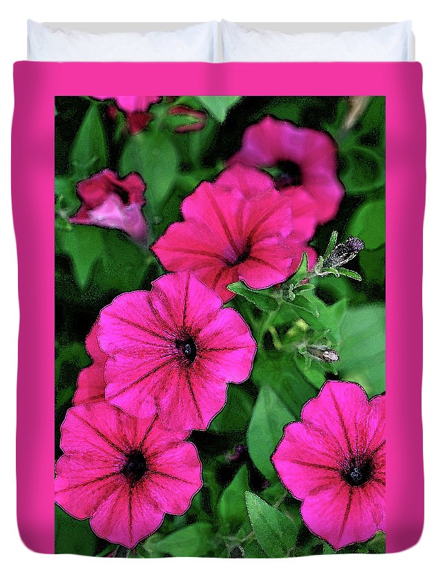 Petunia Duvet Cover featuring the photograph Petunias by Betty LaRue