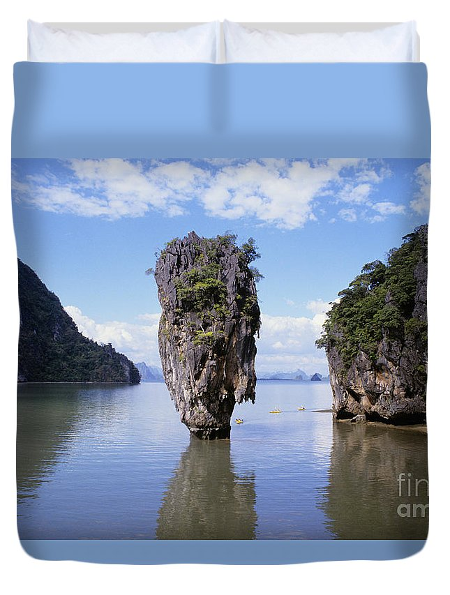 Afternoon Duvet Cover featuring the photograph Phangna Bay by William Waterfall - Printscapes