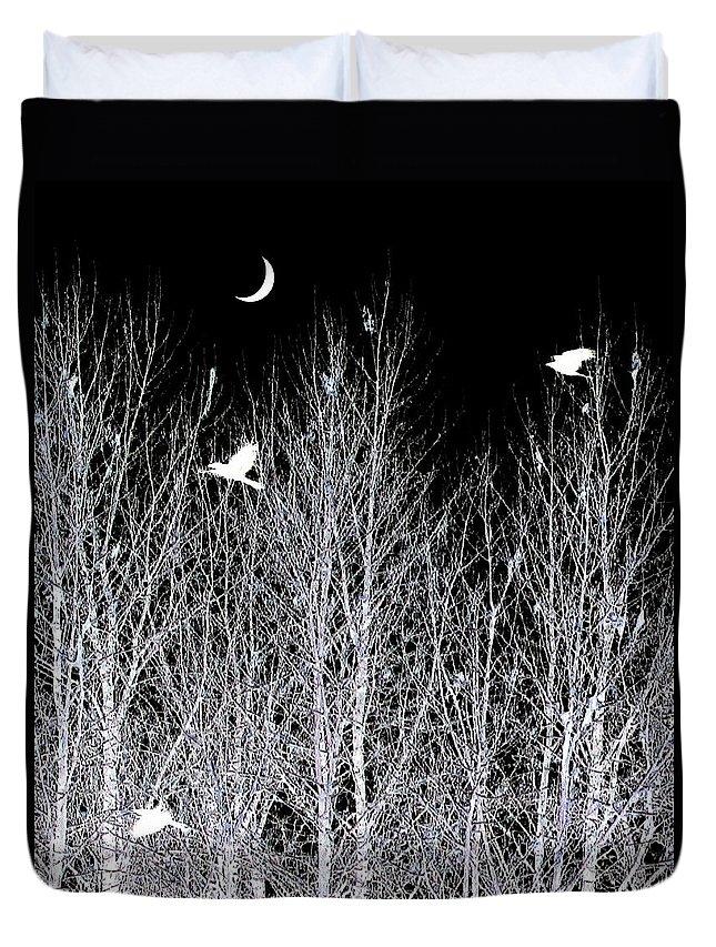 Phantom Birds Duvet Cover featuring the digital art Phantom Birds by Will Borden