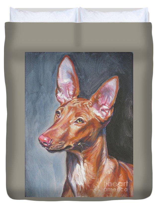 Pharaoh Hound Duvet Cover featuring the painting Pharaoh Hound by Lee Ann Shepard