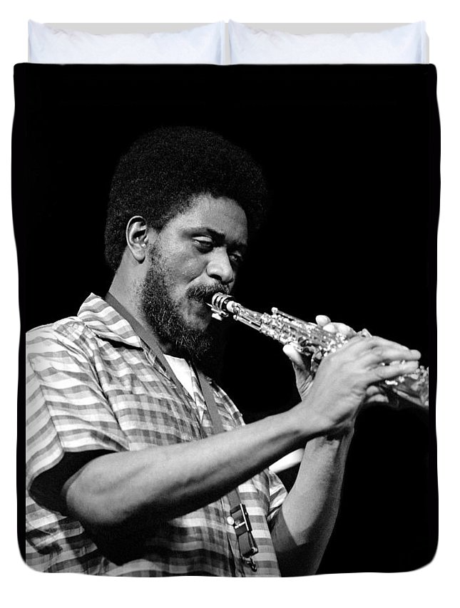 Pharoah Sanders Duvet Cover featuring the photograph Pharoah Sanders 3 by Lee Santa