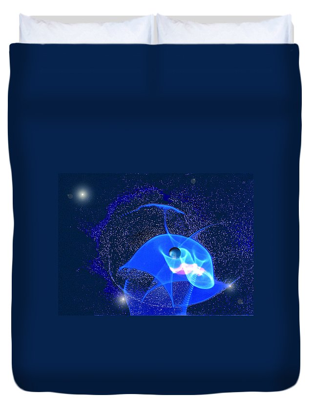 Space Duvet Cover featuring the digital art Phenomenon by Steve Karol