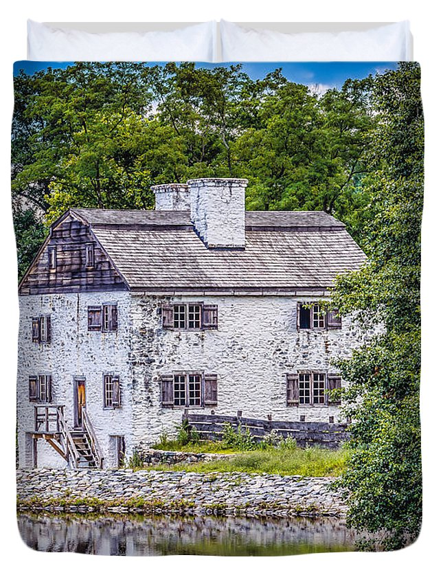 Black Brook Duvet Cover featuring the photograph Philipsburg Manor House by Black Brook Photography