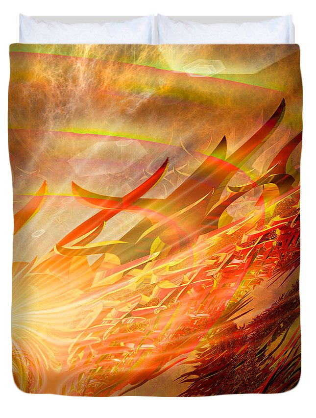 Eastern Duvet Cover featuring the digital art Phoenix by Michael Durst