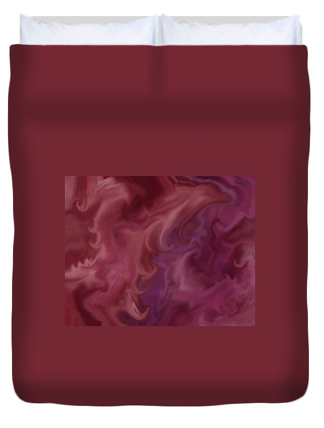 Fantasy Duvet Cover featuring the painting Phoenix Rising by Anne Norskog