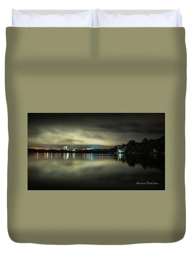 Landscape Duvet Cover featuring the photograph Fog by Bernie Bertrand