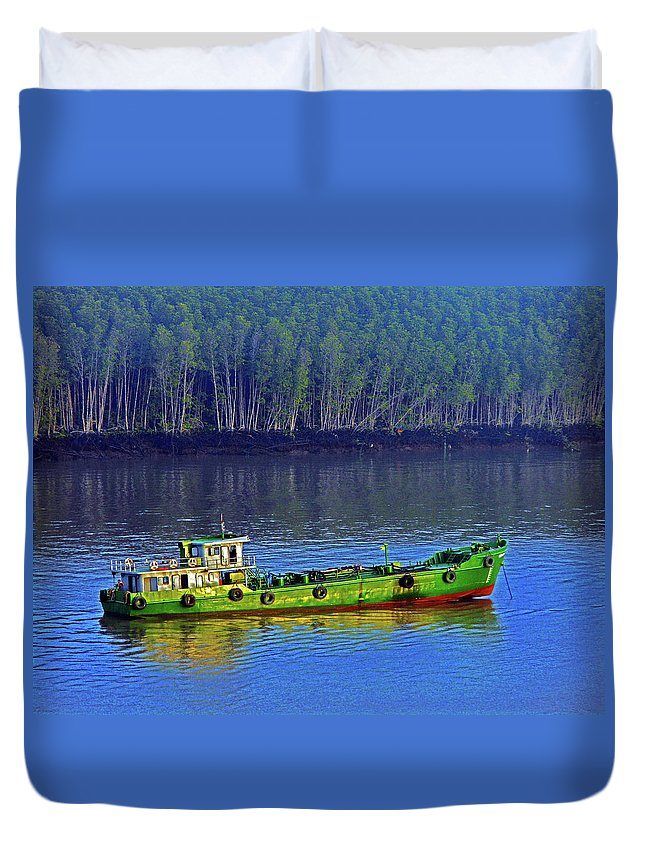 Phu My Duvet Cover featuring the photograph Phu My 1 by Ron Kandt