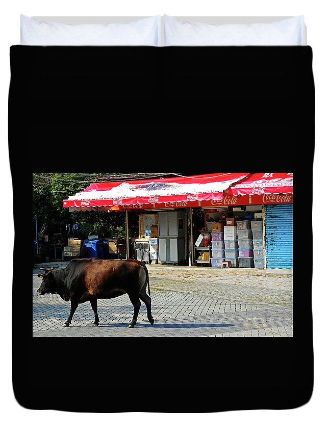 Phu My Duvet Cover featuring the photograph Phu My 2 by Ron Kandt
