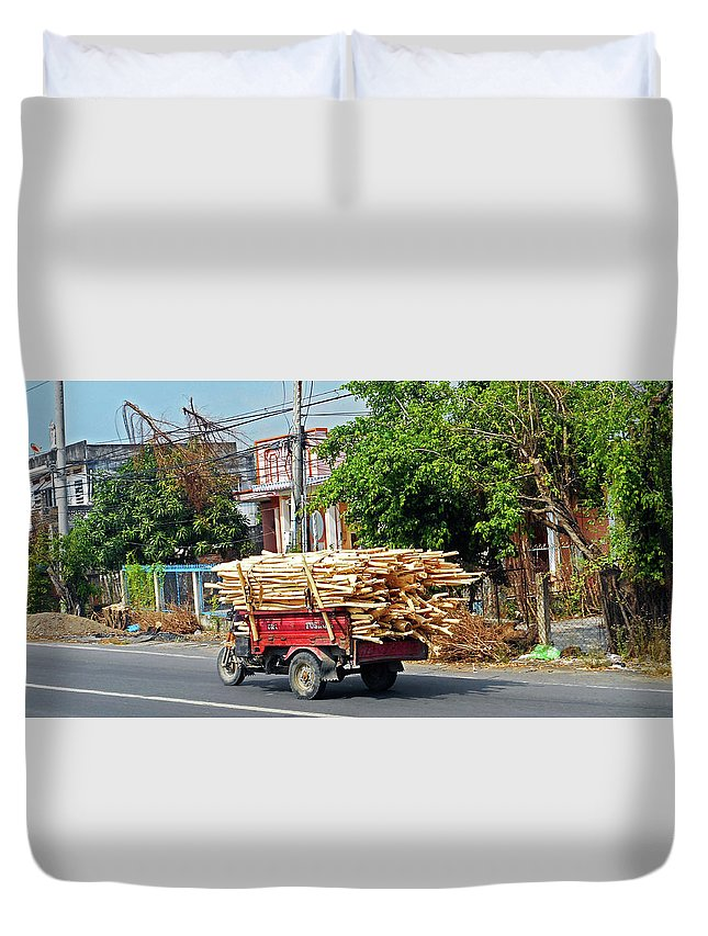 Phu My Duvet Cover featuring the photograph Phu My 6 by Ron Kandt