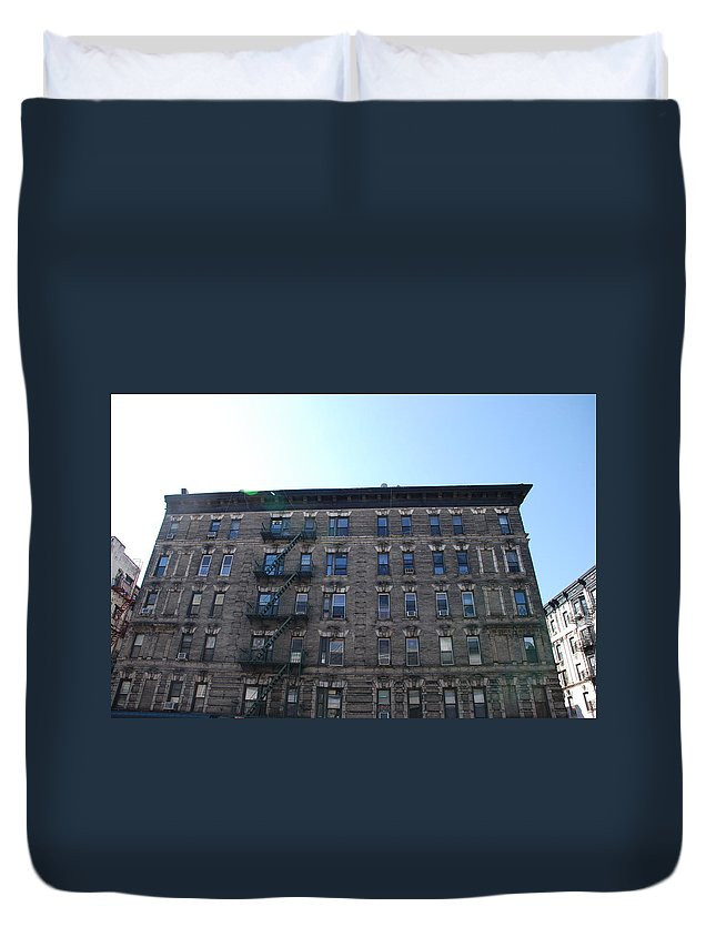 Architecture Duvet Cover featuring the photograph Physical Graffitti by Rob Hans