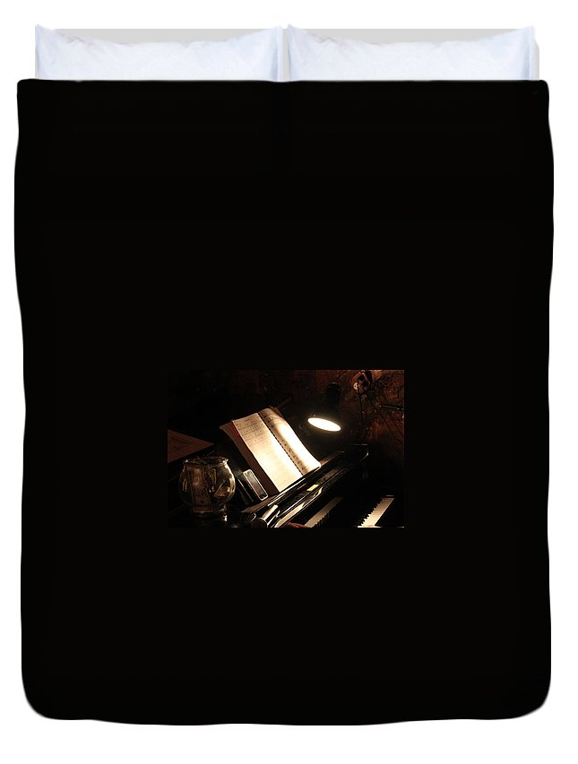 Piano Duvet Cover featuring the photograph Piano Bar by Lauri Novak