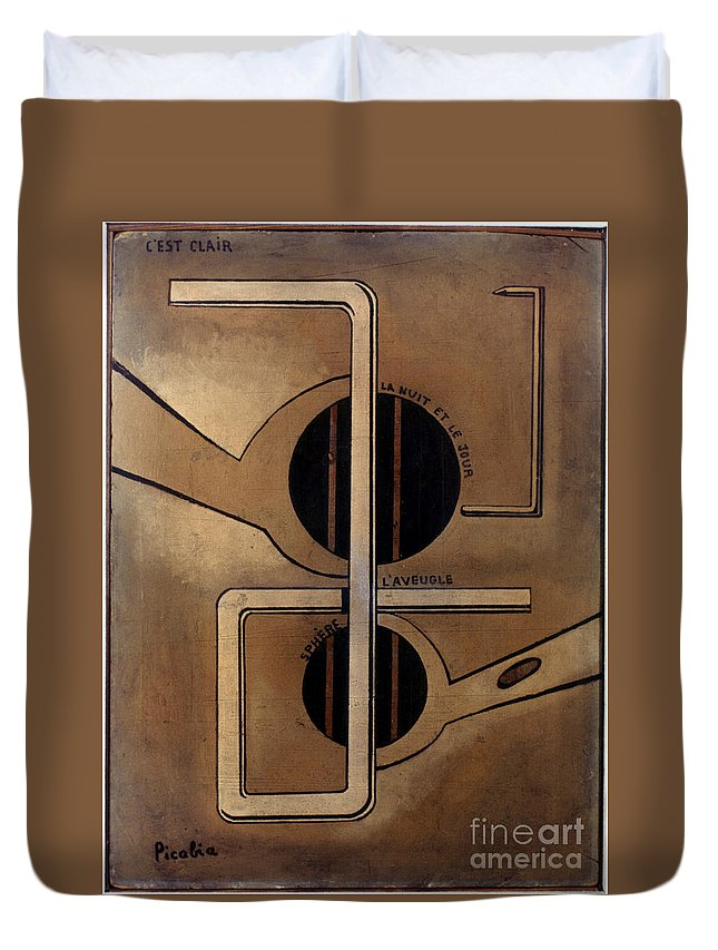 1917 Duvet Cover featuring the photograph Picabia: Cest Clair, C1917 by Granger